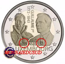 2 Euro Commémorative Luxembourg 2018 BE - Duc Guillaume Pont et Lion