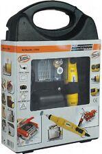 Mini taladro Mannesmann MiniDrill con kit de accesorios en maletín de plástico
