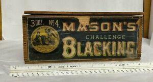 Vintage Mason's Challenge Blacking Advertising Wooden Box