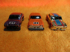 Vintage AURORA AFX SPEED STEER SLOT CARS  3 CARS ALL ESCORTS IN DIFF VERSIONS