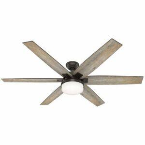 "Hunter Kaplan LED 64"" Ceiling Fan NEW FREE SHIPPING"