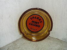 SPARKS Mint Casino Amber Glass Round Ashtray