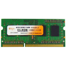 Dolgix 4GB DDR3 1600 MHz Laptop Ram- SO Dimm - Low voltage - Memory Module