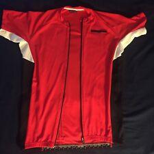 Men's De Marchi  PRO CYCLING JERSEY Red White Black Xl Full Zip Contour DeMarchi