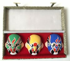 Vintage Chinese Miniature Opera Masks Boxed
