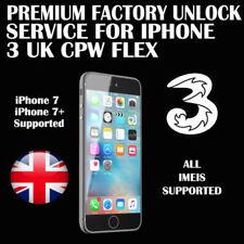 Premium Factory Unlock Service For iPhone 3 Hutchison Carphone WarehouseCPW FLEX