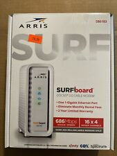 ARRIS SURFboard SB6183 16x4 Docsis 3.0 Cable Internet White Modem Gaming Speed