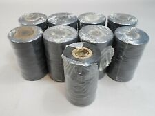 9pc Lot Brayden 203-3 Black Polyester Tape 8 at 500yds 1 at 250yds