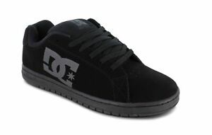 DC Full Black Men's Gaveler Leather Skateboarding Shoes Low 100536