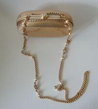 Auth St John Gold Tone Palettes Chain Clutch Small Bag