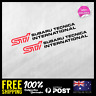 2x STI SUBARU TECNICA INTERNATIONAL STICKER DECAL CAR 4WD JDM RACING 190x22mm