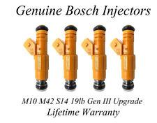BMW E30 M10 M42 S14 19lb Injector Upgrade - Genuine Bosch Gen III - yellow
