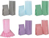 Party Paper Bags PICK n MIX Candy Stripe Wedding Gifts Loot Sweets -11cm x 25cm