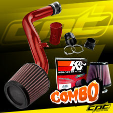 Red Cold Air Intake + K&N Air Filter For 02-06 Altima 3.5L V6
