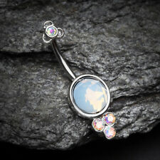 Victorian Opalite Sparkle Belly Button Ring