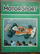 MOTOR SPORT NOV 1974 Triumph Dolomite Sprint BMW 3.0 CSL Rover 2200 TC 3500 V8