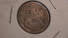 1883 Seated Liberty Dime  Nice Eye Appeal  RARE! 880B4
