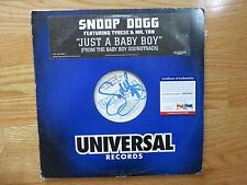 SNOOP DOGG signed Single JUST A BABY BOY 2001 Record / Album Set PSA / DNA