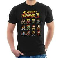 Street Fighter II Pixel Characters Men's T-Shirt