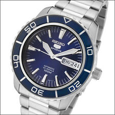 Seiko 41mm 5 Sports Automatic Watch with Stainless Steel Bracelet #SNZH53K1