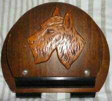 Vintage wooden letter rack with Scottie dog - good condition