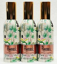 3 Bath Body Works FLANNEL Concentrated Mini Spray Mist Room Perfume