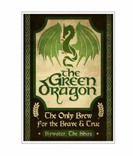 Lord_of_the_Rings Green Dragon Pub Poster Print Wall Decor, High Quality Print