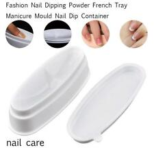 White Nail Dipping Powder French Tray Manicure Container PVC Mold ofus