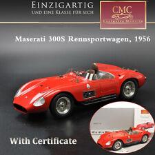 CMC 1:18 1956 MASERATI 300S Rennsportwagen Car Model M-105 RED With Certificate