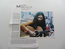 THE BEATLES ORIG 1970  FAN CLUB NEWSLETTER  &  PHOTOGRAPH OF GEORGE HARRISON
