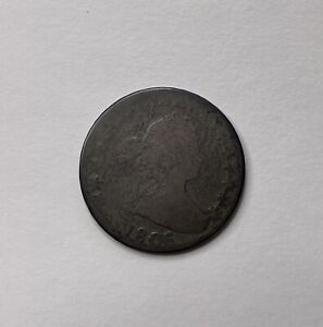 1806 Draped Bust Silver Half Dollar - Knob 6 - Dark Original!