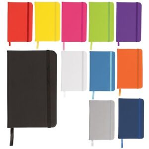 A6 A5 A4 Hardback Notebook Lined Ruled Journal Office Diary Moleskine Style Gift