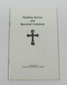 Wedding Service and Betrothal Ceremony 1983 Paperback Armenian Church