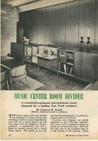 1961 Building a Mid Century Modern Music Center Room Divider MCM Design