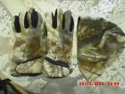 Lot Camo thinsulate Combo Hunting Deer Hogs Beanie cap & Gloves Fleece USED XL