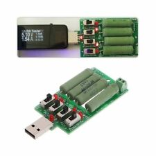 Electronic USB Load Discharge Resistor Resistance Adjustable 15 Current Tester