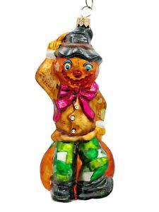 Christopher Radko Scarecrow Sleepy Hollowhead Pumpkin  Halloween Ornament