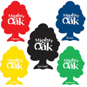 5 x Mix 2D Mighty Oak Tree Hanging Air Freshener Scent Car Van Lorry Taxi Home