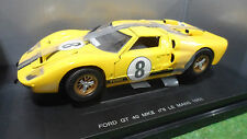 FORD GT 40 MKII LE MANS 1966 #8 jaune o 1/18 UNIVERSAL HOBBIES voiture miniature