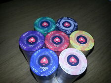 NEW DESIGN! 300 EPT Ceramic Poker Chips - Casino Quality EPT chips