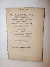 Amaduzzi: Filosofia Alleata Religione 1778 Livorno Biante Didimeo Arcadia RARO