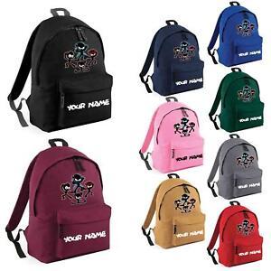 New Personalised Name Kids Ninja Kidz Backpack Youtuber Tv Gaming School Bag