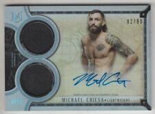2018 UFC Museum Collection Signature Swatches Dual Relic Auto Michael Chiesa