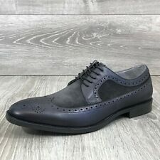 NIB $165 KENNETH COLE Men's Ticket Oxford Wing Tip Shoes, Gray Sz. 12