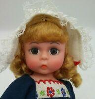 "Vintage Madame Alexander Doll NETHERLANDS 8"" Dutch Girl All Original w/o Shoes"