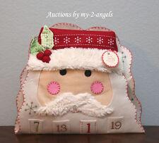 Pottery Barn Kids Christmas SANTA FACE Advent Countdown Calendar NO NAME/NO MONO