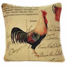DaDa Bedding Rooster Chicken Farm Animal Square Accent Pillow Cushion Cover Case