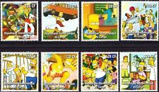 Congo , Cartoon - The Simpsons ,  Stamp set of 8 , MNH