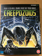 Linnea Quigley CREEPOZOIDS ~ 1987 Cult Sci-Fi | 88 Films UK Blu-ray w/ Slipcover