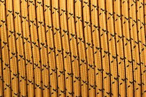 Vintage 3 Core Gold and Black X 0.75mm Flexible Cable - Braided Round Cord
